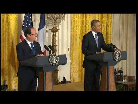 Obama plaisante au sujet de la cravate de François Hollande - 11/02