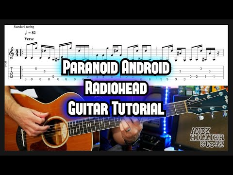 How To Play Radiohead Paranoid Android Guitar Tutorial Lesson