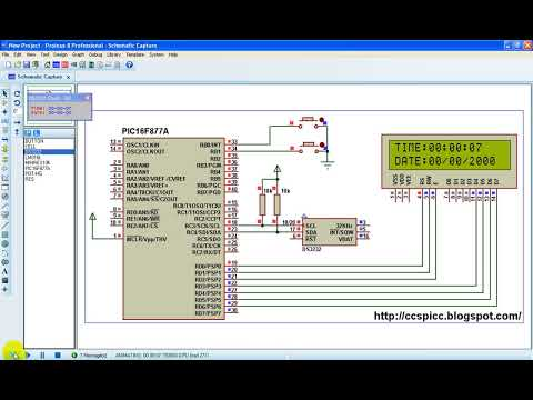 Real Time Clock using PIC16F887 and DS1307 RTC - CCS C
