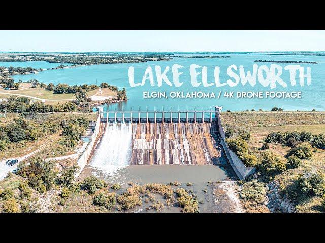 Lake Ellsworth / 4K Drone Footage / Elgin, OK / June 4, 2021