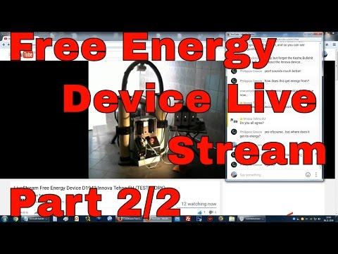 Free Energy Device - Innova Tehu Eu D1943 Livestream with Chat 2/2