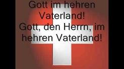 Nationalhymne Schweiz mit deutschem Text