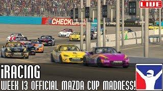 iRacing    Week 13 madness! (Mazda Cup @ Phoenix Road)    LIVE
