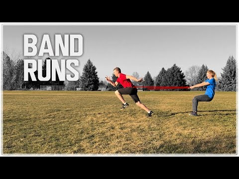 Run Faster w/ Band Resisted Sprints | Acceleration Speed Training