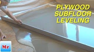 How to Level Plywood Subfloor with Straight Edge MrYoucandoityourself
