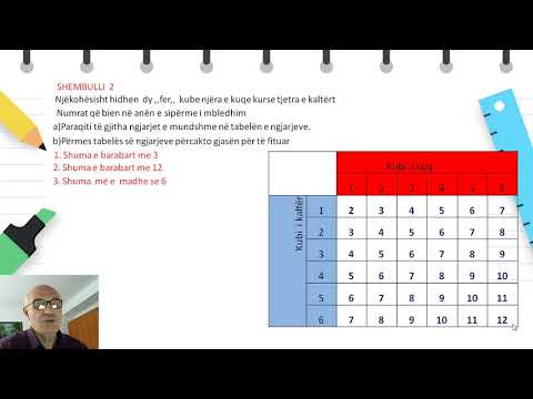 Download Klasa 9 - Matematikë - Tabela e ngjarjeve