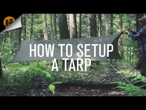 How to Setup A Tarp with a Ridgeline