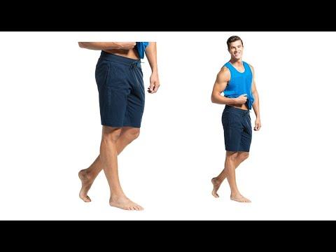 Jockey Men's Straight Fit Shorts (AM12_Navy_Large)