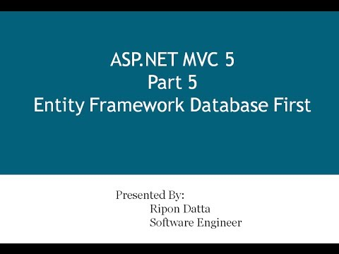 ASP.NET MVC 5 Step by Step: Part 5 Entity Framework Database First