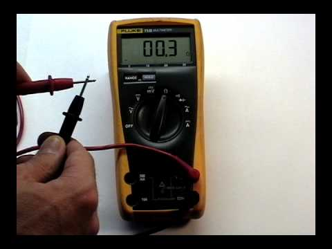 Multimeter Ohms And Continuity Youtube