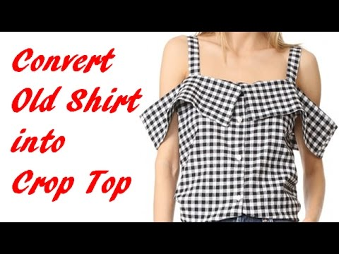 Convert old shirt into trendy crop top diy crop top youtube for How to put a picture on a shirt diy