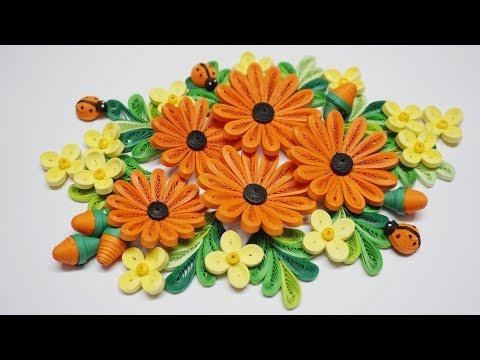 Quilling Flower V7 Tutorial | DIY Paper Daisy Flower Tutorial