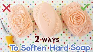 SOAP CARVING | How To Soften Hard Soap | EASY | ASMR | Satisfying |