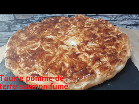 tourte-pomme-de-terre-et-saumon-fumé