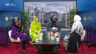 Dhiya Bakr Sahiba with guests at Jalsa USA 2018