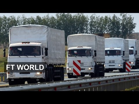 Russian convoy en route to Ukraine