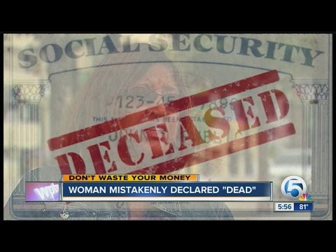 Woman mistakenly declared