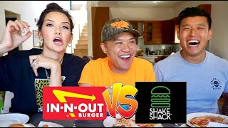 """""""What Dat Mouth Do"""" - In N Out Vs. Shake Shack - MUK BANG -  with Bart and Geo"""