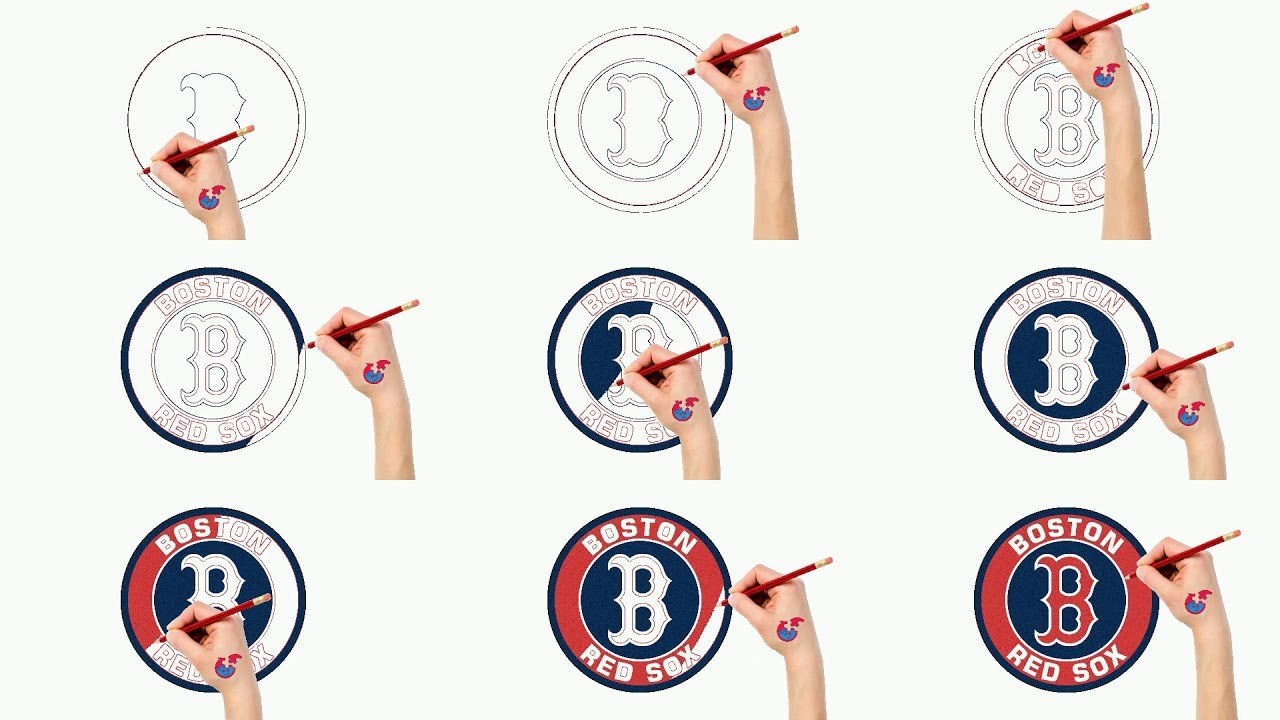 Fast Drawing And Coloring For Toddlers - MLB Boston Red Sox - Puzzle ...