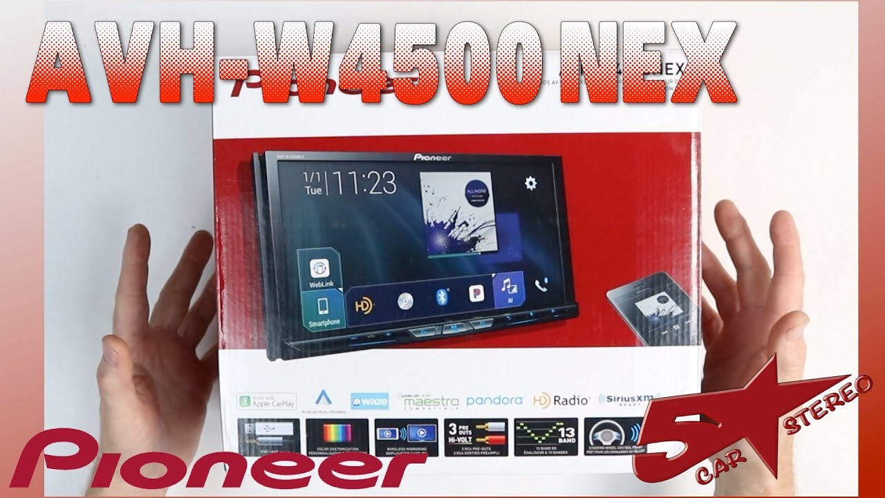 medium resolution of pioneer avh w4500nex unboxing and overview