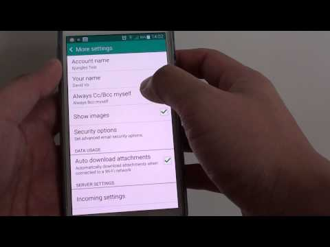 Samsung Galaxy S5: How to CC / BCC Yourself a Copy of an Email