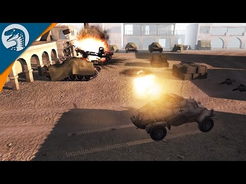 ROMMEL'S FORCES IN FULL RETREAT   COD MOD   Men of War: Assault Squad 2 Gameplay