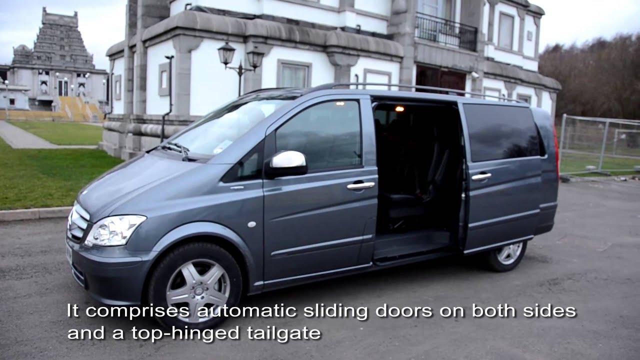 luxury chauffeur 9 seater van mercedes benz vito