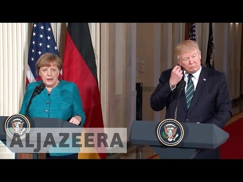 Thumbnail: Phone-tapping claims in focus at Trump and Merkel meet