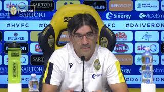 Juric: «Sarà il Verona di sempre: chi ama il calcio onora tutti gli impegni»