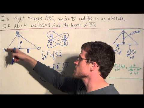 Altitude Rule for Right Triangles - Geometry