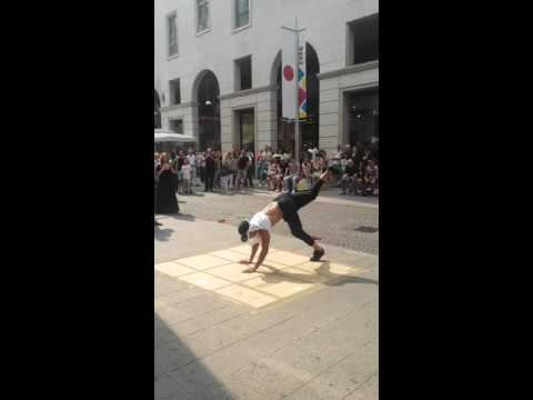 Street  break dance at Milan