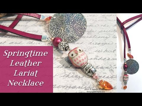 Springtime Leather Lariat Necklace-Quick & Easy Jewelry Tutorial