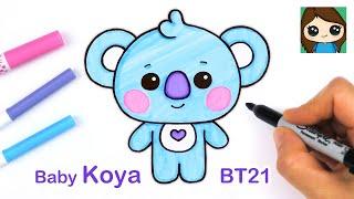 How to Draw BT21 BABY Koya | BTS RM Persona