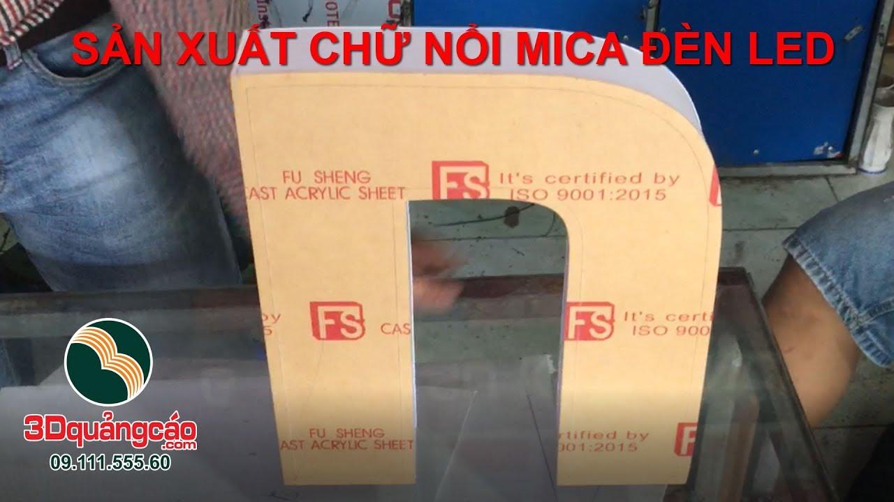 P1-5 Uốn Chữ Mica –  Sản Xuất chữ nổi mica đèn led 3dquangcao.com
