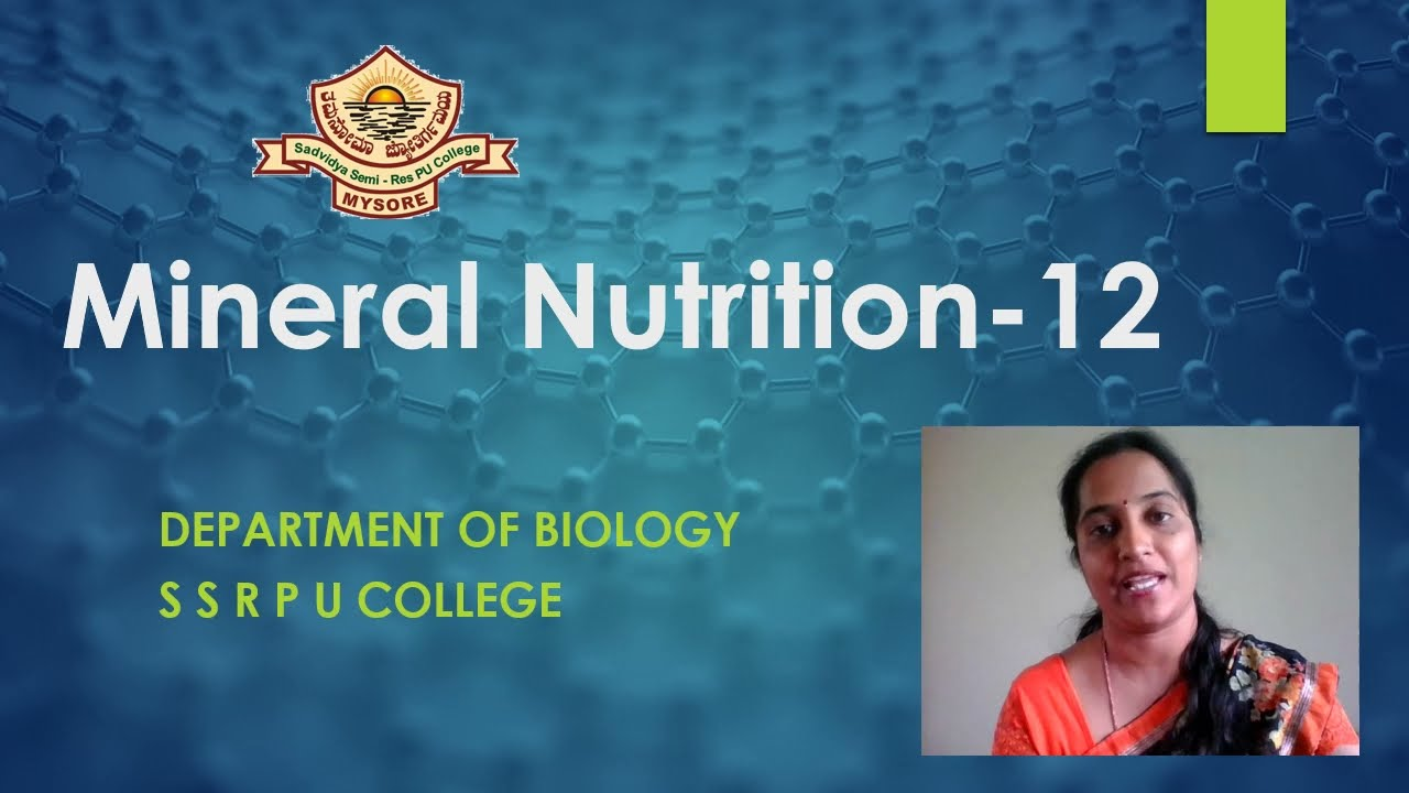 I PUC | BIOLOGY | MINERAL NUTRITION IN PLANTS - 02