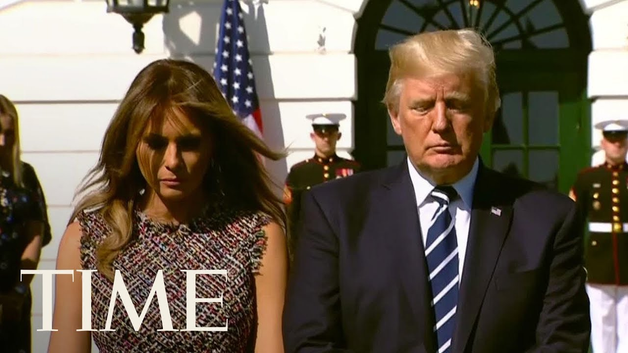 President Trump & First Lady Hold Moment Of Silence For Las Vegas Shooting Victims | TIME