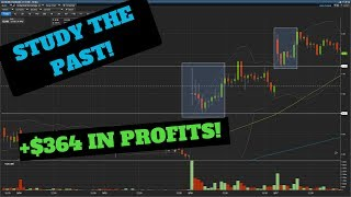 STUDY THE PAST! +$364 IN TRADING PROFITS | Day Trading For Beginners 2018