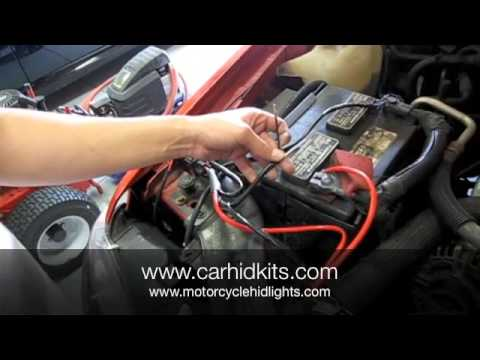HID Kit Relay Install - YouTube