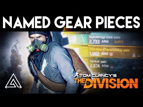 The Division - How to Get All New Named Gear Pieces In Patch 1.5 | Named Gear Piece Locations