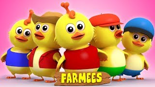 Five Little Chicks | Nursery Rhymes Songs For Kids | Rhymes For Children by Farmees
