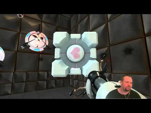 Portal The Companion Cube Talks And Chicken Before The Cake