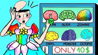 Rapunzel Picks Her Own Brain - Barbie Funny Cartoons  WOA Paper Dolls Dress Up
