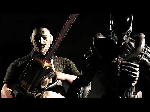 MORTAL KOMBAT X - Alien And Leatherface Trailer