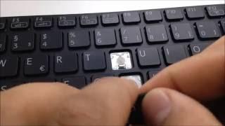 Notebook Tastatur Reparieren Einzelne Taste Einbau Montieren Sony Vaio SVE-1511