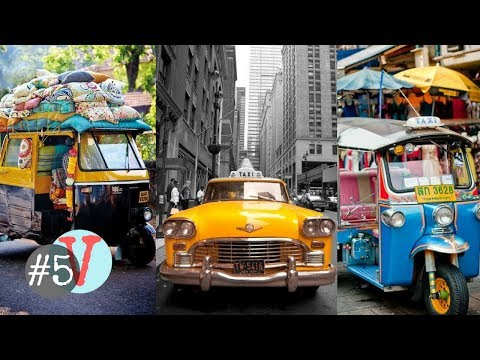 5 Most Interesting TAXIS Around The World✔ [TheFiveVidsShow]