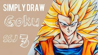 Simply Draw Goku Super Saiyan 3