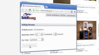 bidbag Remote für Google Chrome