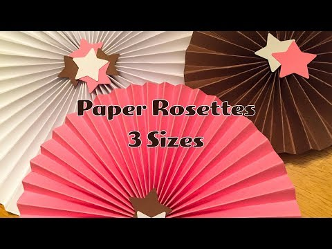 Paper Rosettes - 3 different sizes