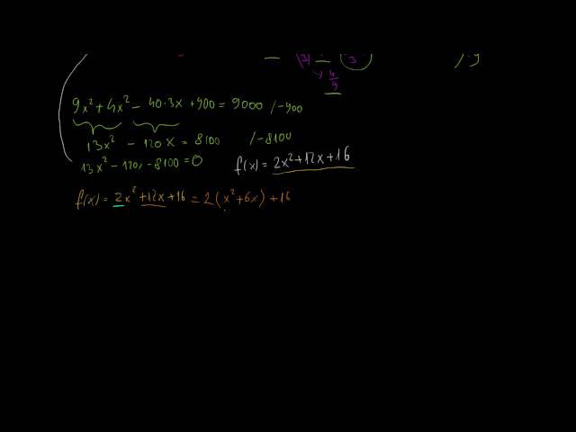 Másodfokú egyenlet és annak függvénye (1. rész)