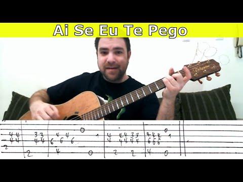 Tutorial: Ai Se Eu Te Pego - Fingerstyle Guitar w/ TAB